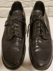 Texas Steer Mens Safety Toe Shoes Size 11D Leather Oil resistant non marking