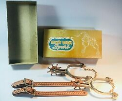 Buck'n Bronc Spurs In The Original Box. Fine Condition.