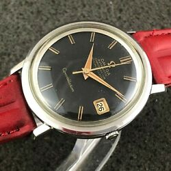 Collectable Omega Constellation Swiss Watch Refinished Black Dial Automatic