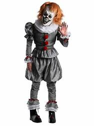 Charades It Chapter 2 Movie Evil Scary Clown Adult Mens Halloween Costume 03698