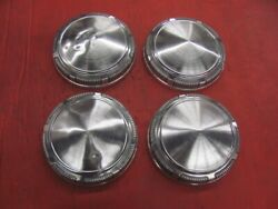 Set Of 4 Dodge Plymouth Dog Dish Hub Caps Hemi 440 Cuda 69 70 71 72 73 74