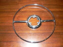 Vintage 1946, 1947, 1948 Ford Steering Wh. Horn Ring 21a3625ablistered Plating