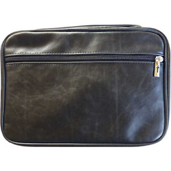 Bible Cover - Distressed Leather Look-extra Extra Large-black