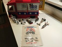 Evil Knievel Precision Miniatures Set Of Six W/ Van And Evils Car And Racer 1976