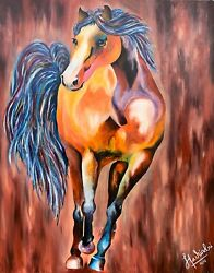 Original Acrylic Painting On Canvas By Artist The Lucky Bright Side 60x 48