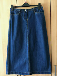 GEORGE 💛 very comfortable blue jeans denim long skirt 12 excellent condition.