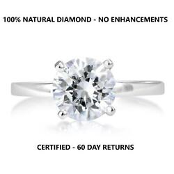 Carat D Vs2 Natural Clarity Diamond Solitaire Engagement Ring 14k White Gold