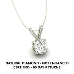 1 Ct D Vs2 Real Natural Clarity Diamond Pendant Necklace 14k White Gold