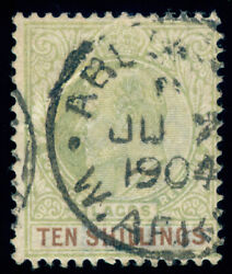 Momen Lagos Sg 53 1904 Crown Ca Used Signed Lot 60101