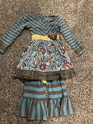 CUTE Mustard Pie Brand Girls Childrens Pants And Top Set 24 Months Size