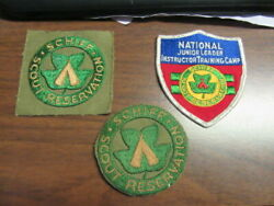 Schiff Scout Reservation N.j. 3 Different Pocket Patches   Th2
