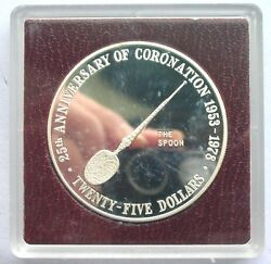 Cayman 1978 The Spoon 25 Dollars 1.52oz Silver Coinproof