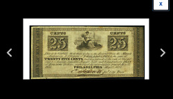 Philadelphia Pa- City Of Philadelphia 25andcent May 12 1837 Almost 200 Years Old
