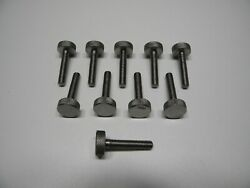 Holley Qft Aed Ccs Large Head Stainless Thumb Idle Screw And Spring 10 Pack