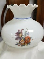 Vintage Ruffle Crimped Top Floral Flowers Gone Wind Lamp Shade Oil Gwtw Student