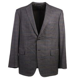 Nwt 4995 Brioni 'colosseo' Layered Check Soft Wool-cashmere Sport Coat 46 R