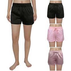 HDE Satin Sleep Shorts for Women - Sexy Womens Boxer Lingerie in 3 Cute Colors $12.99