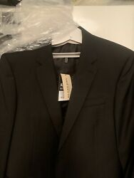 Men London Suit Jacket Brand New In Full Pack Uk 42r Black With Cover