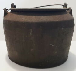 Small Antique Double Cast Iron Melting Pot With Handles 5 1/4 And 3 1/2