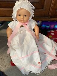 Lissi Puppe Doll 22 Newborn Baby Lissi Doll In Christening Dress With Bonnet