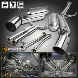 For 2003-2007 Infiniti G35 2dr Coupe Dual Exhaust Catback 4.5 Muffler Tip