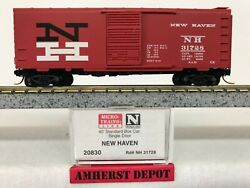 Micro Trains New Haven Box Car N Scale 20830 Nh Red 40' Boxcar