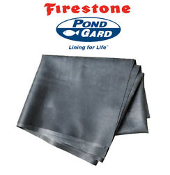 25and039 X 15and039 45 Mil Firestone Brand Epdm Koi Pond And Water Feature Liner +warranty