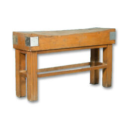 Early 20th Century Antique French Maple Butcherand039s Block