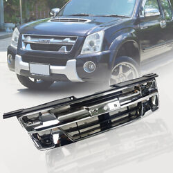 Front Chrome Abs Grill Grille Frame Isuzu Dmax Rodeo Blade D-max 2007-11