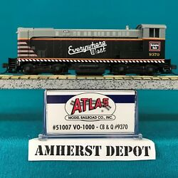 51007 Chicago Burlington And Quincy Cb And Q Atlas N Scale Vo-1000 Dcc Ready Nib