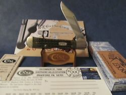 Case 20th Century Green Pkt Worn Copperlock Knife 12/31/99 Oval Shield Only 50