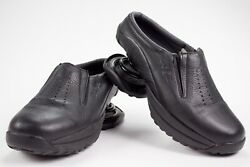 Z-Coil Taos Mules Clogs Shoes Womens Leather Black Comfort Slip On Coils Size W8