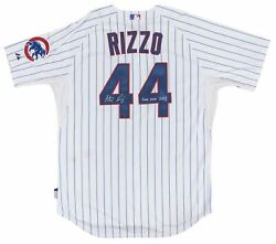 2013 Anthony Rizzo Game Used And Signed Chicago Cubs Home Jersey Used On 9/25/13