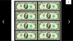 Set Of 8 Cleveland Consecutive Serial Numbers 10 1963a Federal Reserve Gem Cu.