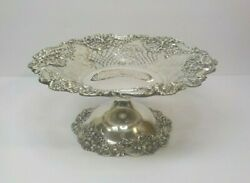 Sterling Silver 10.5 Tazza Compote 494, Black, Starr And Frost Ny, C. 1890