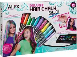 Alex Spa Deluxe Hair Chalk Salon Storage Case Beads Beading Tool 12 Colors