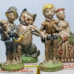 Vintage Wade 4 Nursery Favourites 11, 13-15 England Rare Box Cat Fiddle Queen