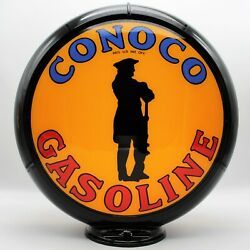 Conoco Minute Man 13.5 Gas Pump Globe - Ships Fully Assembled - Made In Usa
