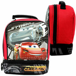 Disney Cars Lightning Mcqueen Dual Compartment Kids School Insulated Lunch Bag $11.91