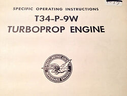 Pratt And Whitney T34-p-9w Turboprop Specific Operation Instructions Manual