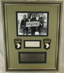 General Anthony And039and039nutsand039and039 Mcauliffe 101st Airborne Bastogne Autograph Display