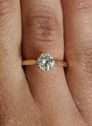 0.75 Ct Cathedral 4 Prong Round Cut Diamond Engagement Ring Vs1 D Yellow Gold