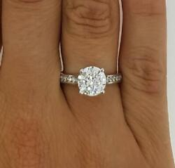 1.75 Ct Channel Set Round Cut Diamond Engagement Ring Si2 F White Gold 18k