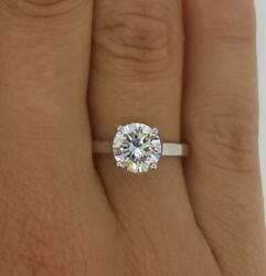 2.25 Ct Classic 4 Prong Round Cut Diamond Engagement Ring Si2 G White Gold 14k