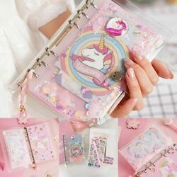 Kids A6 Week Planner Notebook Unicorn Spiral Journal Hand Book Diary Bookmarks