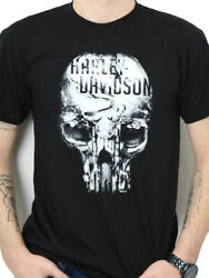 Harley Davidson Mens Eternal Freedom Skull Black Short Sleeve T Shirt