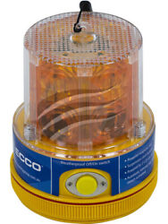 Ecco Amber Led Beacon Battery Powered Off/on [ref Narva 85320a] Eb8300a