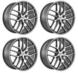 4 Bbs Cc-r Wheels 95 / 105x20 Et35/45 5x1143 Grapm For Ford Mustang