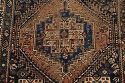 Pre-1900 Antique Tribal Geometric Abadeh Area Rug Hand-knotted Wool Carpet 4and039x6and039