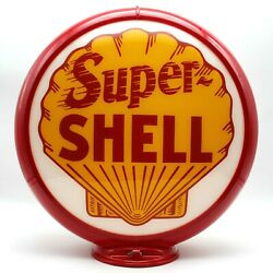 Super Shell 13.5 Gas Pump Globe - Ships Fully Assembled Ready For Your Pump